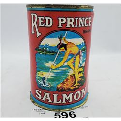 Red Prince Brand Salmon Chum Tin With Paper Label
