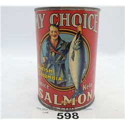 My Choice British Columbia Salmon Tin With Paper Label Bank