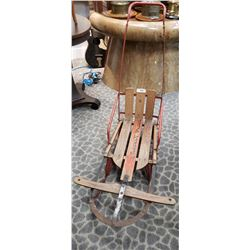 Rare Push Sled, Very Old, Rocket Plane,
