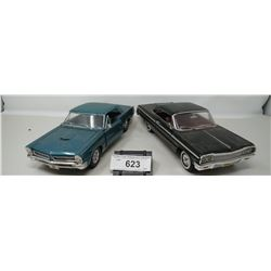 2 1:18 Scale Die Cast Cars, Impala And Gto