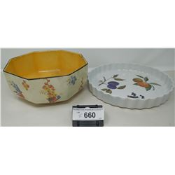 2 Piece Collectible Dishes, Bowl And Plate