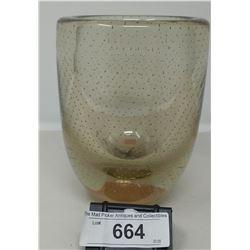Heavy Glass Murano Vase