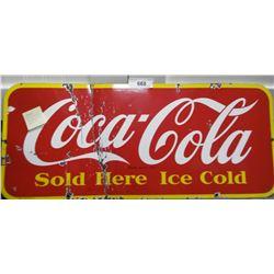 1948 Coca Cola Porcelain Door Kick