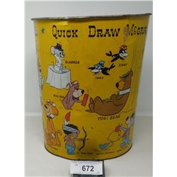 Early Quick Draw Mcgraw Hannah Barbera Garbage Pail