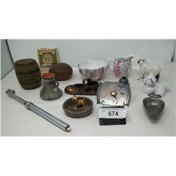 Misc. Collectibles, Figurines, Bank, Electric Doorbell Etc..