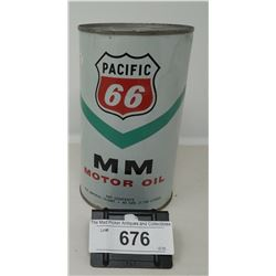 Vintage Pacific 66 Mm Motor Oil Can
