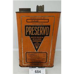 Vintage Preservo 1 Gallon Can