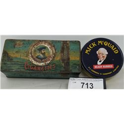 2 Vintage Tobacco Tins, Players And Mc Mcwade