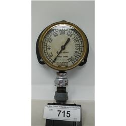 Early Single Spring Pressure Gauge Morrison Brass Company Ontario