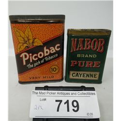 Picobac Pocket Tobacco Tin And Nabob Pure Cayenne