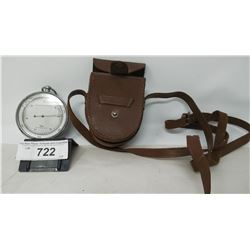Early Temperature Gauge In Leather Case