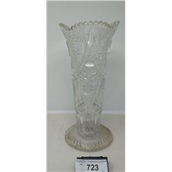 Vintage Heavy Brilliant Cut Crystal Vase