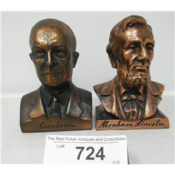 Vintage Abraham Lincoln And Eisenhower Coin Banks