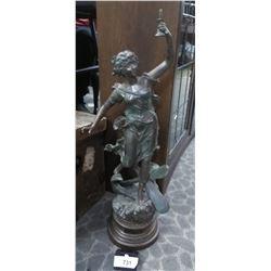 Damaged Spelter Figurine