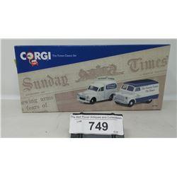 Corgi Classics Set Sunday Times Vans In Box