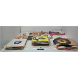 Box Of Vintage 45S, Rock And Roll