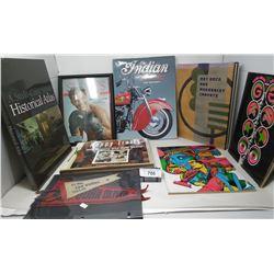 Mixed Vintage Books, Pennants, Etc..