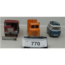 3 Vintage Diecast Vehicles, Dinky, Corgi, Budgey Coca Cola Truck