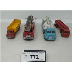 4 Vintage Diecast Vehicles, Dinky, Corgi, Budgey Etc.,,