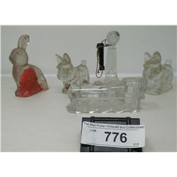 5 Figural Vintage Glass Candy Containers