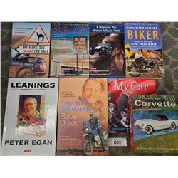 8 Car And Motorcycle Books