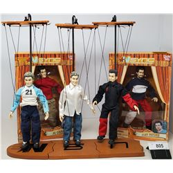 Set Of 5 Tour 2000 Nsync Marionette Dolls, 2 Of Them Mint In Box