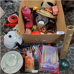 Large Box Of Misc 70S Kitchenware, Vases, Jug, Etc..