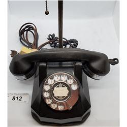 Vintage Bakelite Telephone Lamp