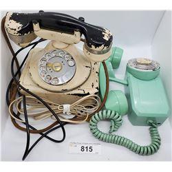 2 Vintage Rotary Telephones