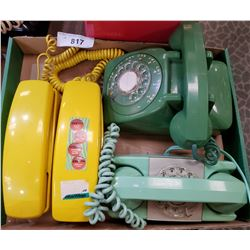 4 Vintage Telephones, 2 Rotary's, 2 Push Button