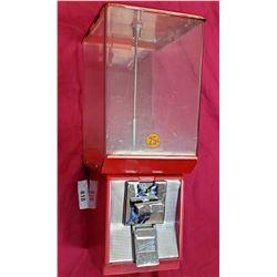 Vintage North Western 25C Bubble-Gum Machine With Key
