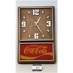Vintage Coca Cola Clock With Chip In Corner