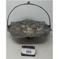 Nicely Decorative Early Silver Plate Bowl With Handle