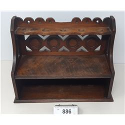 Early Wooden Pipe Smokers Rack