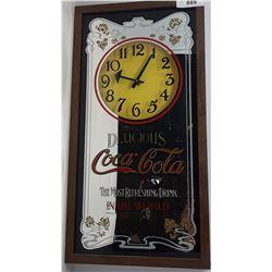 Vintage Coca Cola Mirror Clock