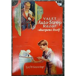 Early Die Cut Valet Auto Strop Razor, Sharpens Itself! Store Display With Easel