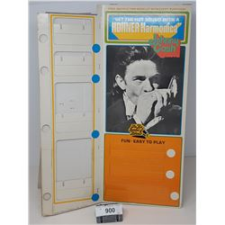 Vintage Johnny Cash Display Cardboard Hohner Harmonica Store Display With Easel