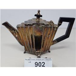 Early Art Deco Silver Plated Tea Pot