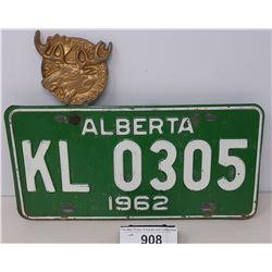 1962 Alberta License Plate Pap Loyal Order Of Moose License Plate Topper