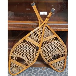 Pair Of Vintage Snow Shoes