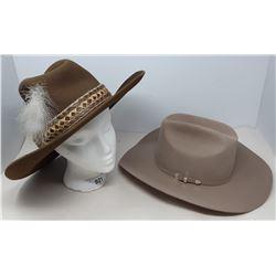 2 Vintage Cowboy Hats