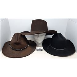 3 Vintage Cowboy Hats