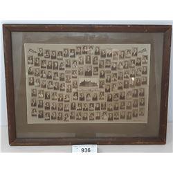 1914 King Edward High School Graduating Class Photograph Framed