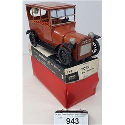 Vintage Ford Old Fashion Tin Car In Box