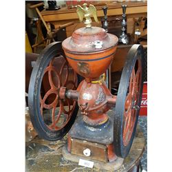 Early Large Cast Iron Coffee Grinder Made By Enterprise Manufacturing Company Usa