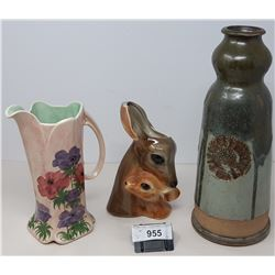 3 Vintage Collectible Vases