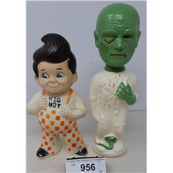 1973 Big Boy Rubber Statue And 1960S Colgate Soaky Figures