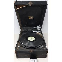 Portable Tabletop Gramophone In Original Case