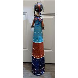 African Bead Work Pin Cushin Doll