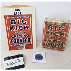 3 Piece Vintage Big Kick Play Chewing Tobacco Bag